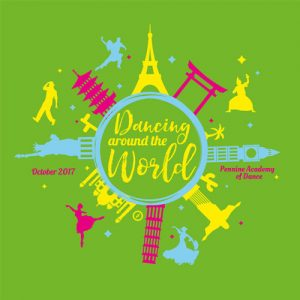 Dancing around the world logo