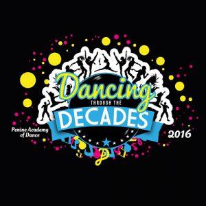 Dancing through the decades logo